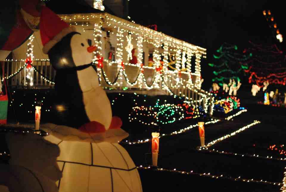 this man lights up raleigh happyland christmas lights a tradition